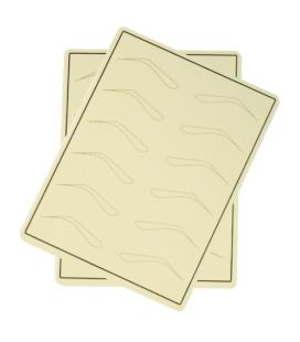 Pelle sintetica piatta sopracciglia
